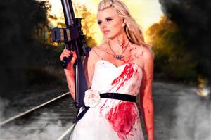 Zombie killer bride by bueller345