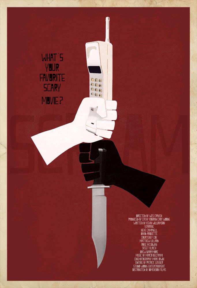 Scream custom Poster by edgarascensao on DeviantArt