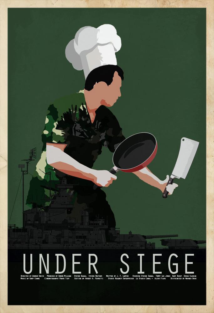 Under Siege Movie Art Silk Poster 24x36inch