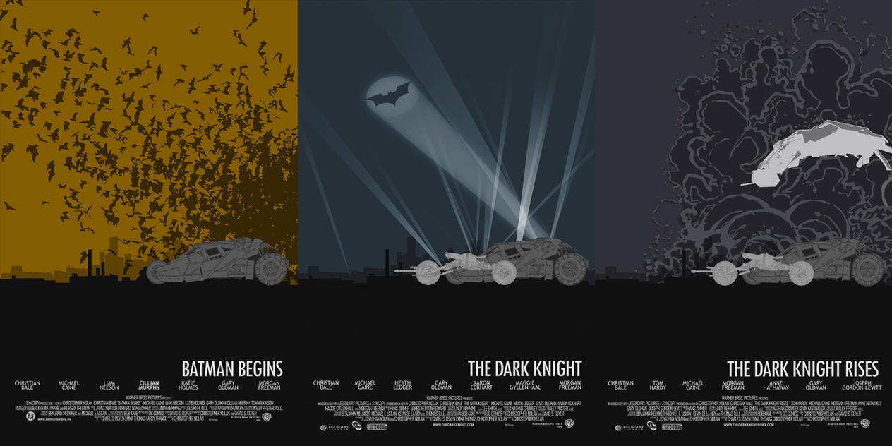 Nolan's BATMAN Trilogy by edgarascensao