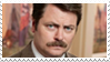Ron Swanson Stamp by PsyKatty