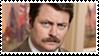 Ron Swanson Stamp by PsyKatty