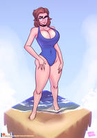 The Perfect Blue Swimsuit (Post-TF)