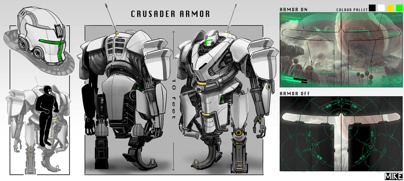 Crusader Power Armor by michaellimsstuff