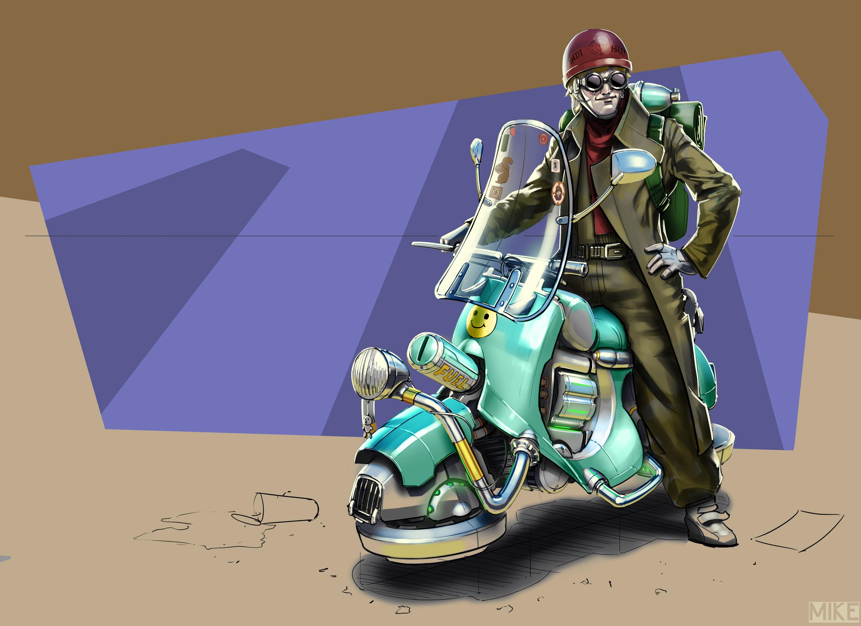 Hover Bike by michaellimsstuff