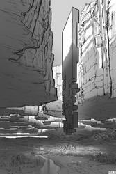 Shattered Sky Land - Graphic Novel Concept Art by michaellimsstuff