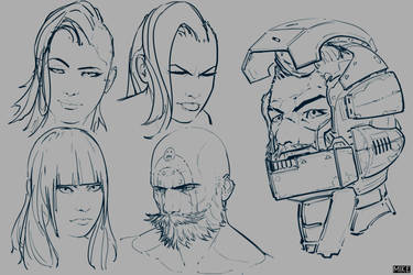 Trying to Improve Character Art_2 by michaellimsstuff