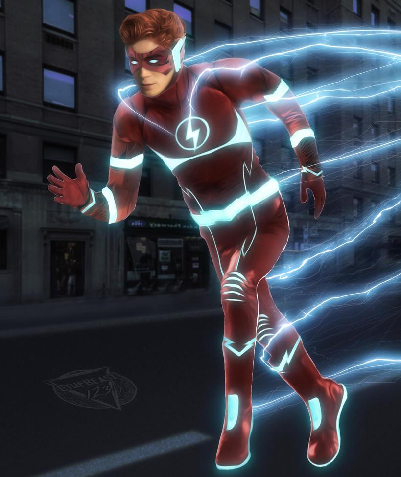 Kid Flash Rebirth - CW - KJ Apa by cthebeast123