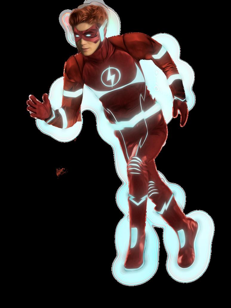 Kid Flash Rebirth - KJ Apa - Transparent by cthebeast123