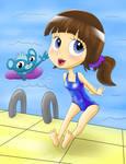 Blythe in swimsuit