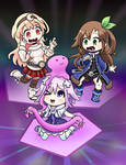 Neptunia Girls And A Different Slime Blob