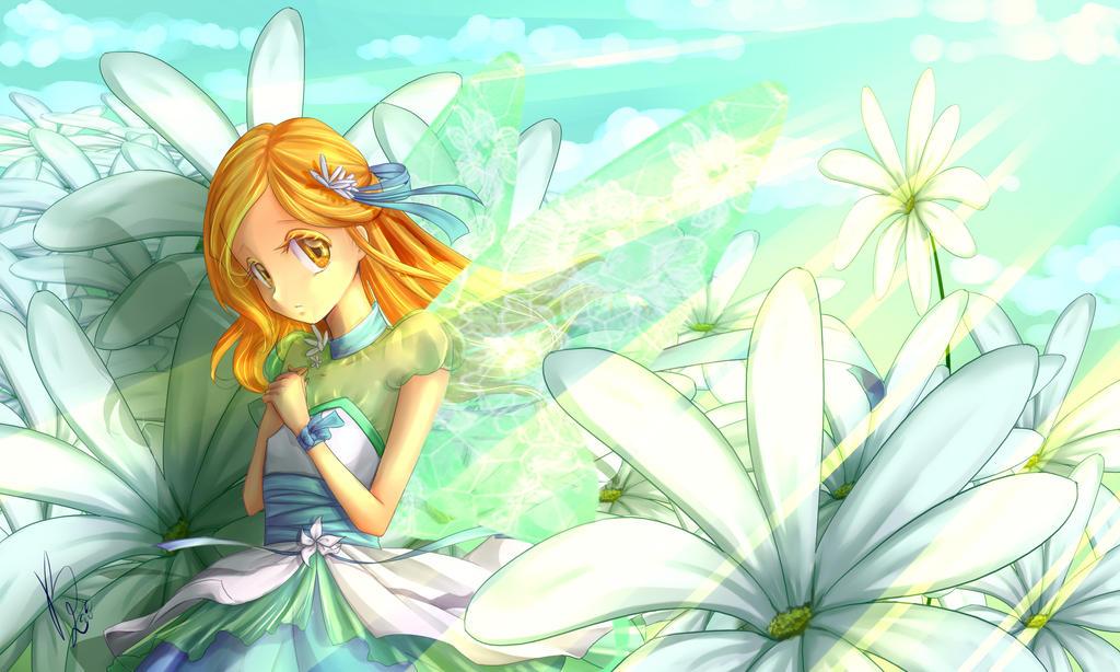 Kiyomi- Flowers around me by KimiK-A