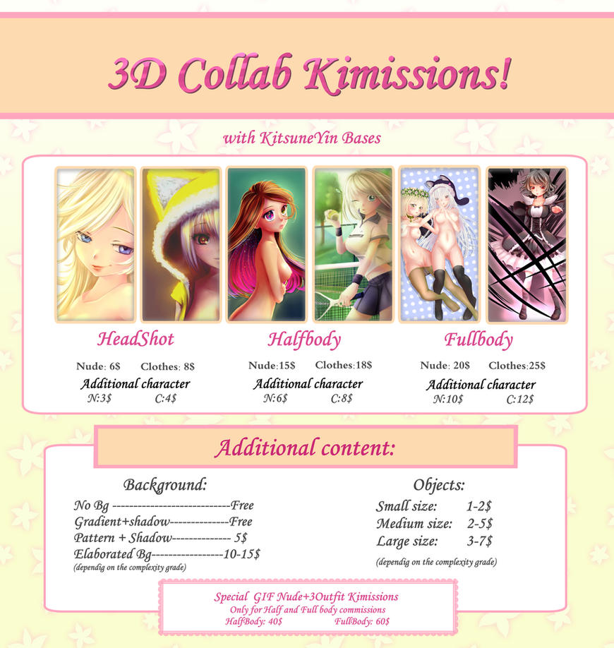 3D Kimission Sheet OPEN  (Read Before Asking) by KimiK-A