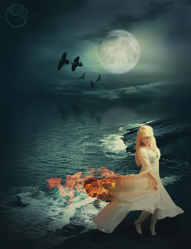 Burning Swan by Sherubichan