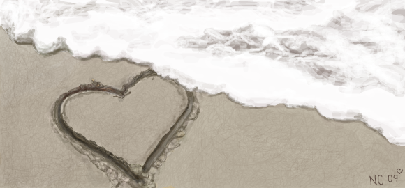 hearts in the sand by password09