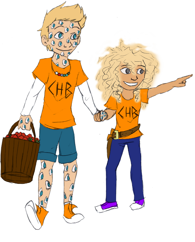 Argus and little Annabeth by CoffeeOtter