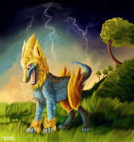 649 Monsters Piece - Manectric by redmerle