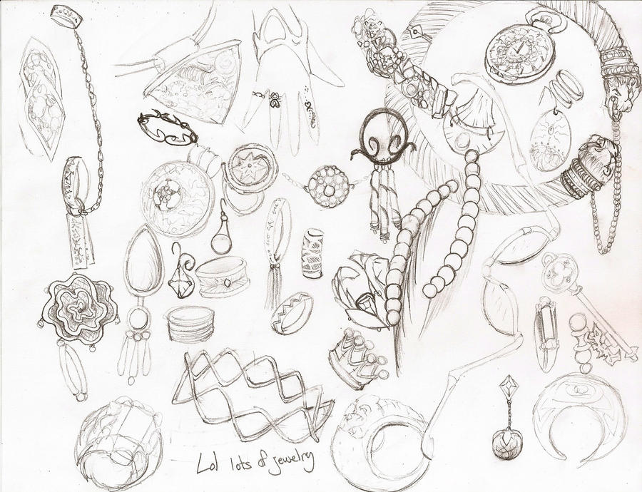 Jewelry Design Line Art : Jewelry sketch by kenb t on deviantart