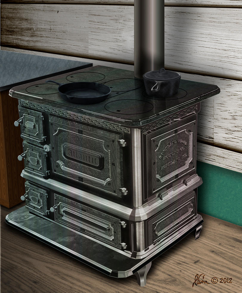 Antiquie Wood Stove by KevyMetal
