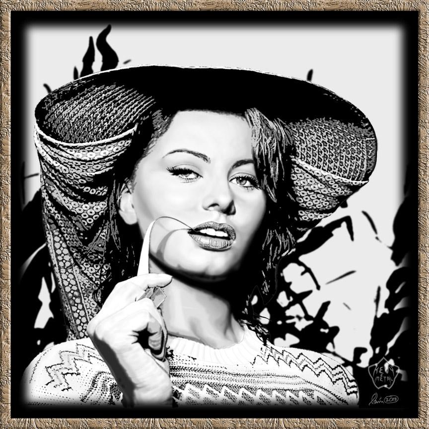 Sophia Loren by KevyMetal