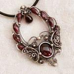 Time Traveler Silver Garnet Pendant