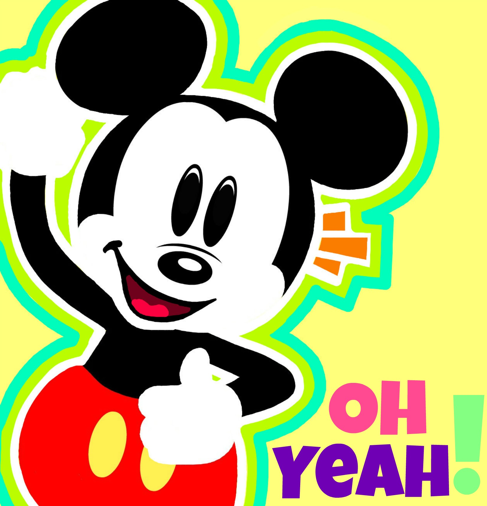 Mickey Mouse-Oh yeah! by danysilva13 on DeviantArt Mickey Mouse Love Drawings