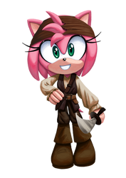 Pirate Amy Rose by AngieR3741
