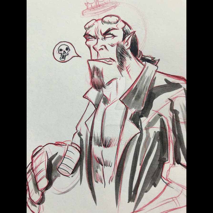 Hellboy by AIart