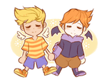 Happy 10th Anniversary Mother 3 by azulila