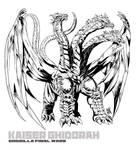 KAISER GHIDORAH LINE ART