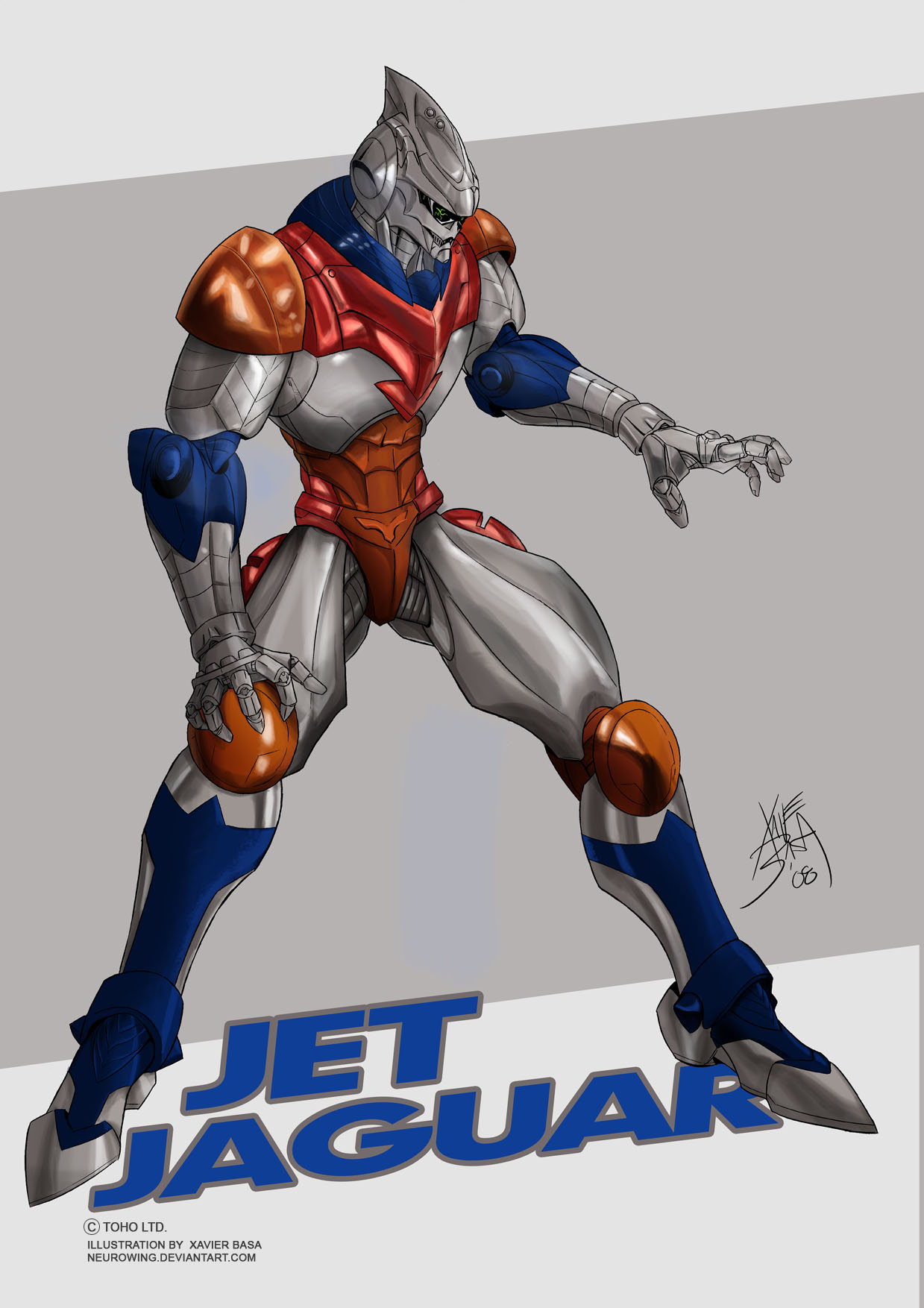 Line Art Xl 2008 : Jet jaguar xl image by neurowing on deviantart