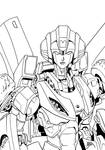 Arcee Booth Sketch inked