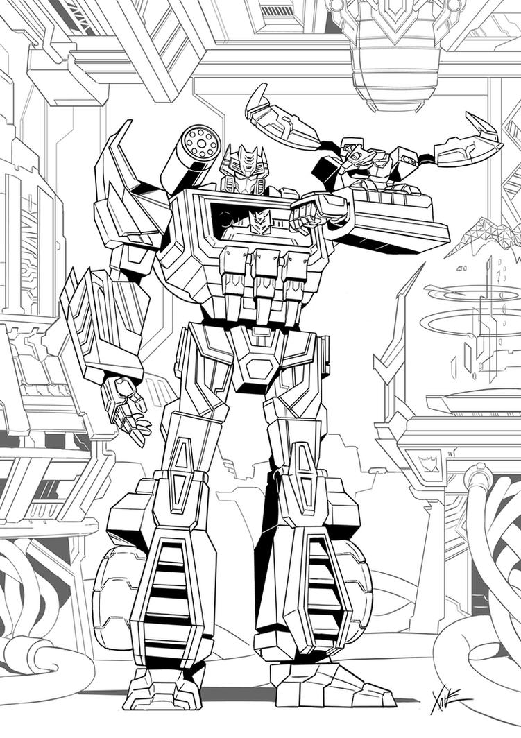 Soundwave Telecoms Room LINEART by neurowing