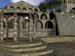 3D Background: Temple Complex