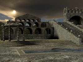 3D Background: Temple Complex2 by Sheona-Stock