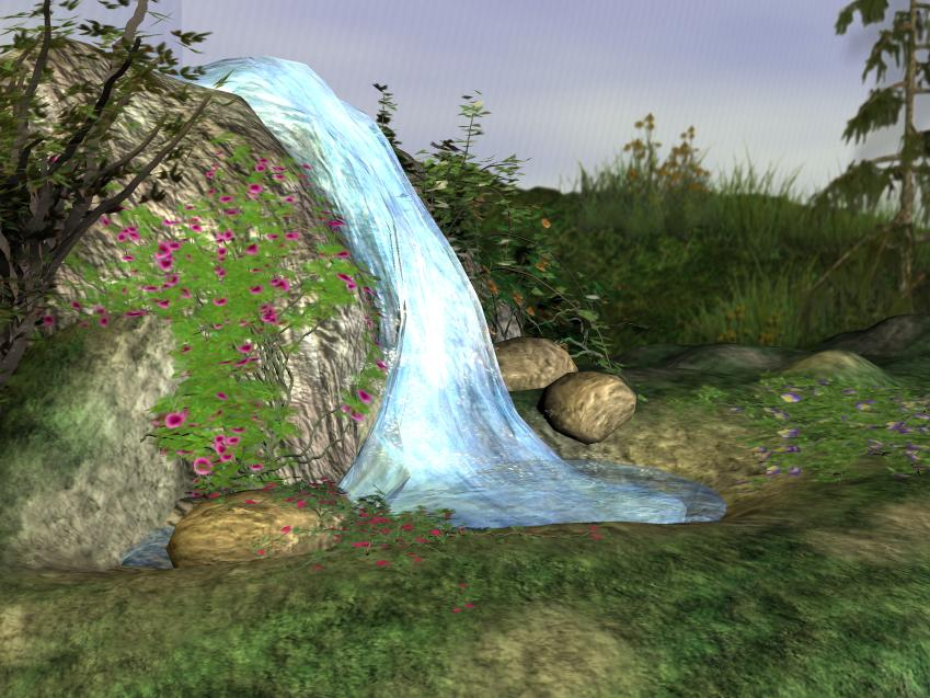 3d Background - Waterfall