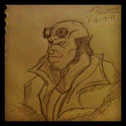 Hellboy sketch by Brodeepros