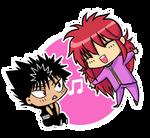 YYH - Kurama and Hiei KAWAII