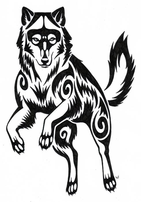 Wolf tattoo by seyca