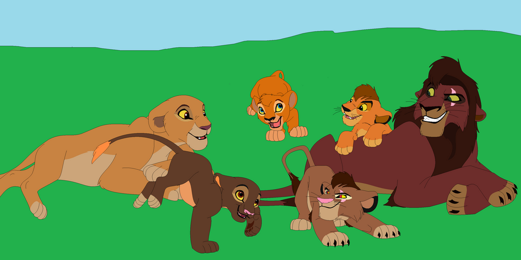 Kovu and Kiara's Family by lionkingboltlover12 on DeviantArt