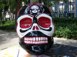 skull black red white by Fan1202