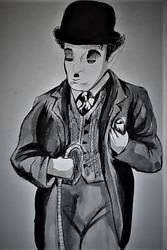 Charlie Chaplin eating something he scavanged by govthescoffer