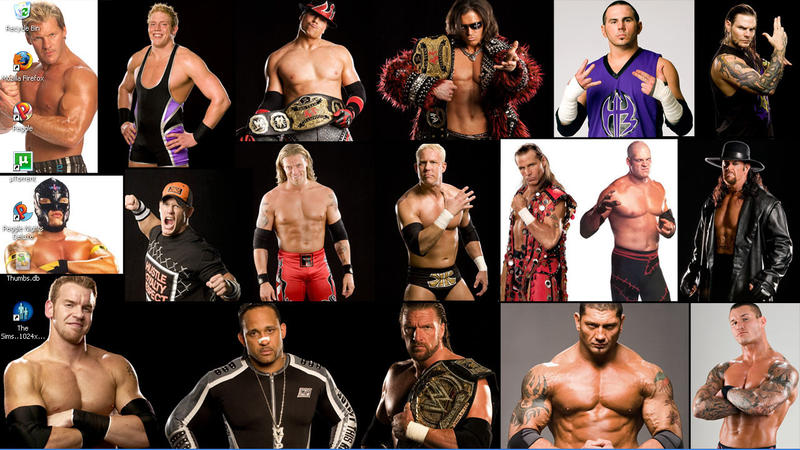 WWE Collage WideScreen By JediRhith On DeviantArt