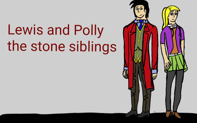 Lewis and Polly the stone siblings by balloondani