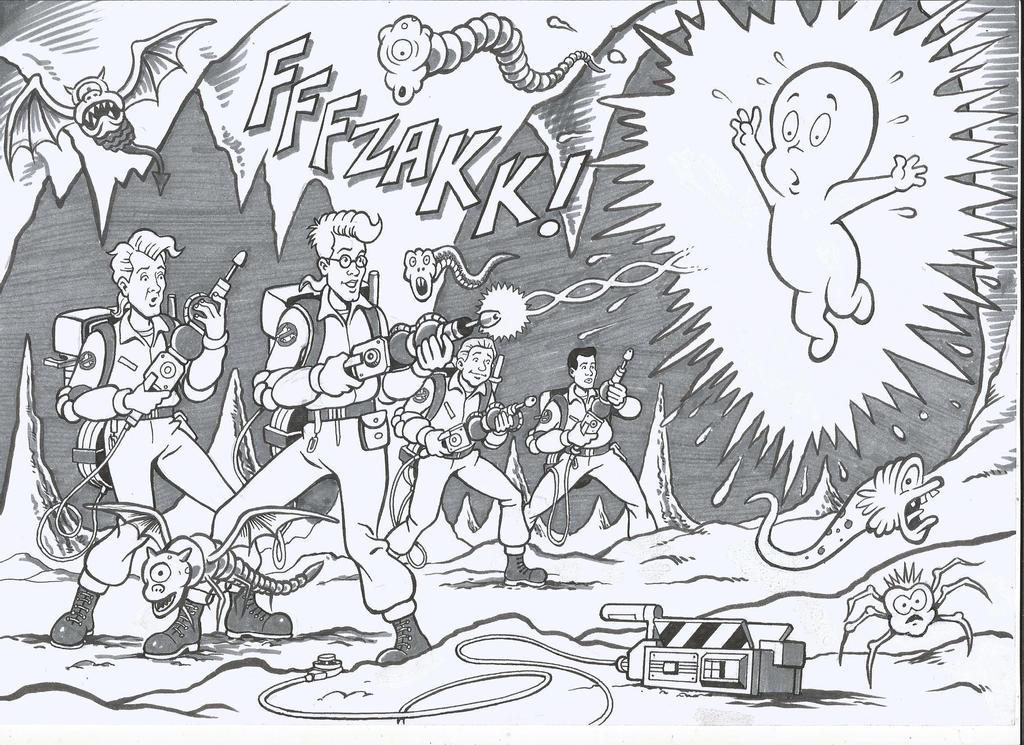The Real Ghostbusters v Casper by ga-ren
