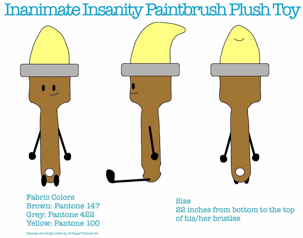 Paintbrush Plushie concept by Sugar-CreatorOfSFDI on ... Inanimate Insanity Eyes