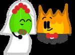 Wife Leafy and Husband Firey by GlazeSugarNavalBlock