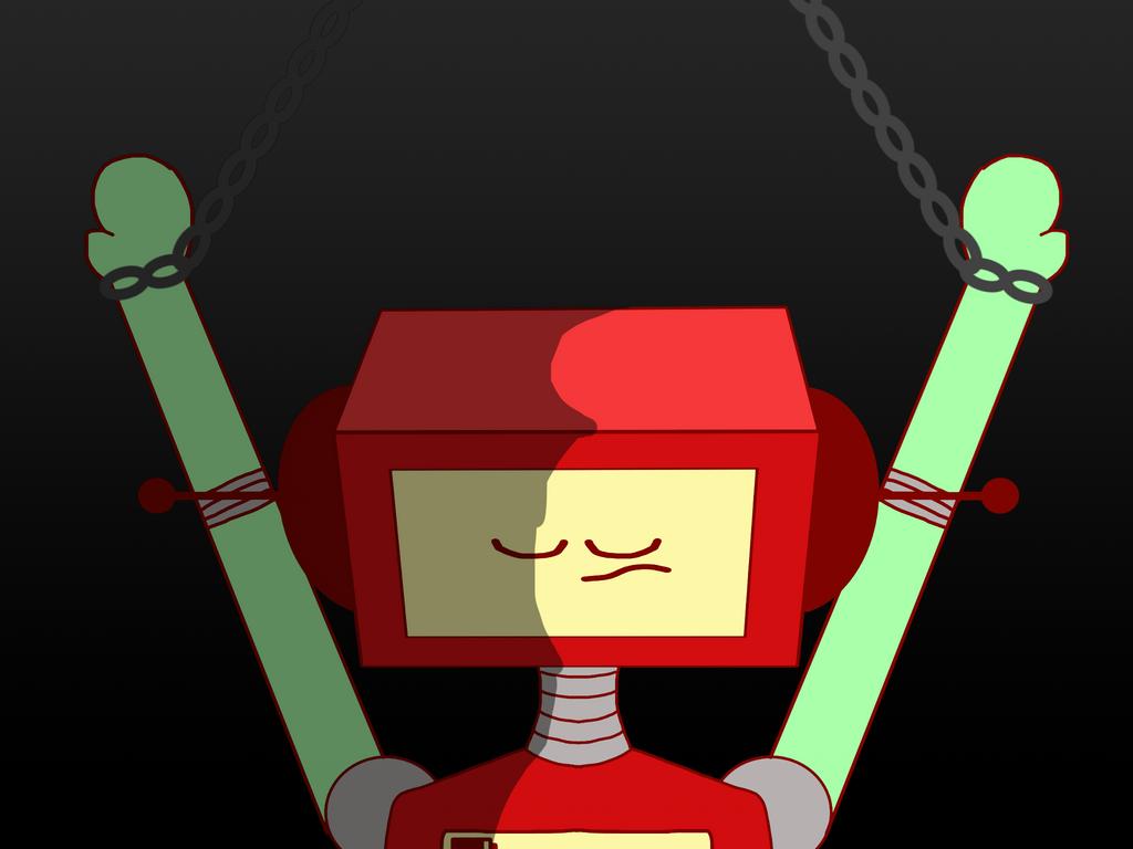 Chained Up Robot Human by Sugar-CreatorOfSFDI