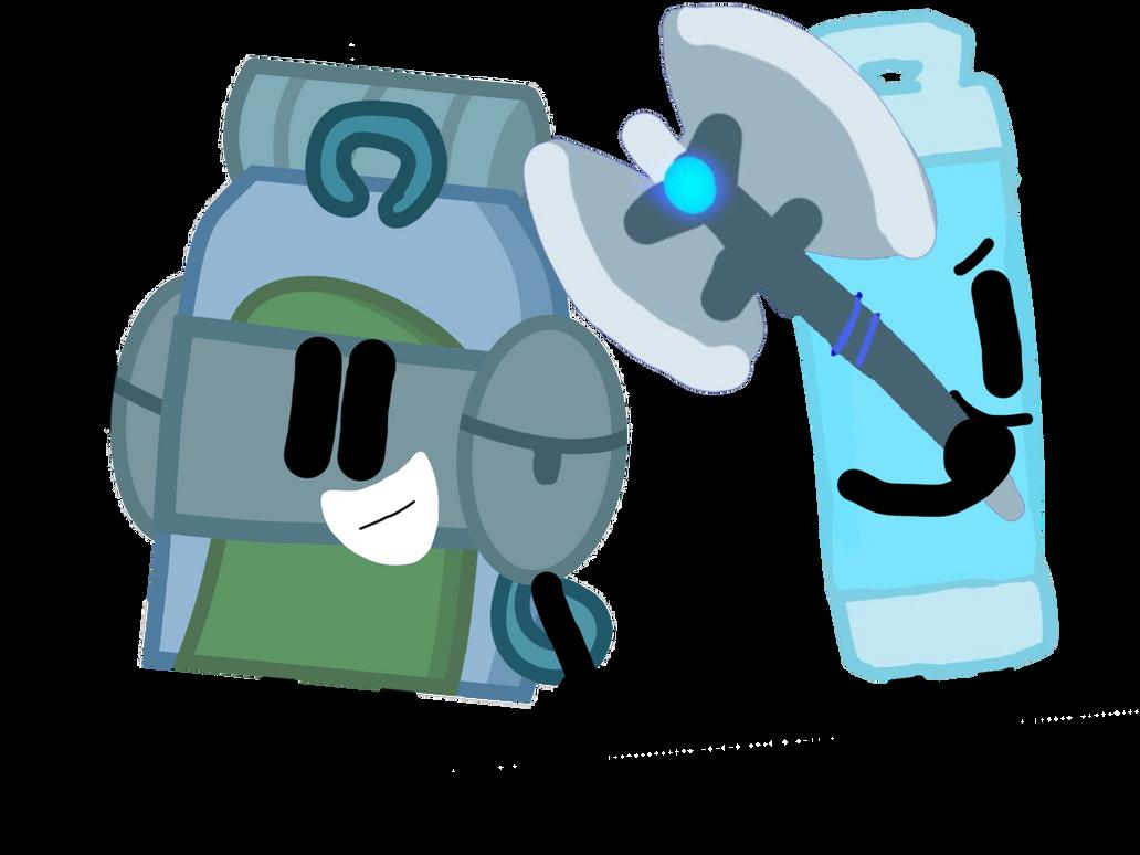 Backpack and Glow Stick by Sugar-CreatorOfSFDI
