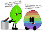 Dyeing Eggs in BFDI be like...